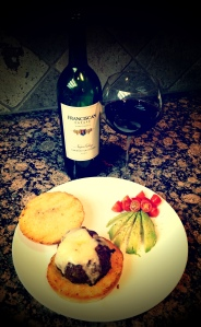Franciscan Cab with tasty burger