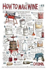 How To Make Wine poster. Looks kinda hard. I think I prefer drinking it.